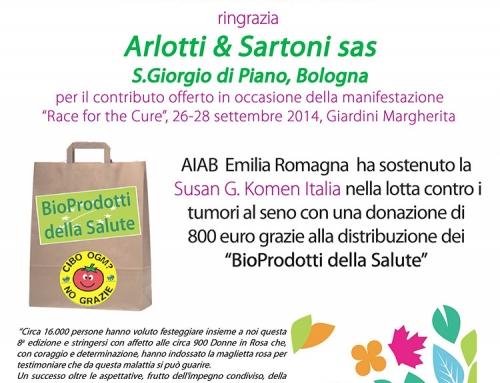Ringraziamento AIAB Emilia Romagna per Arlotti & Sartoni