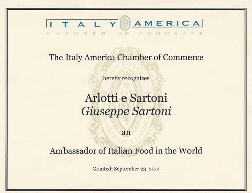Ambasciatore del Cibo Italiano nel mondo