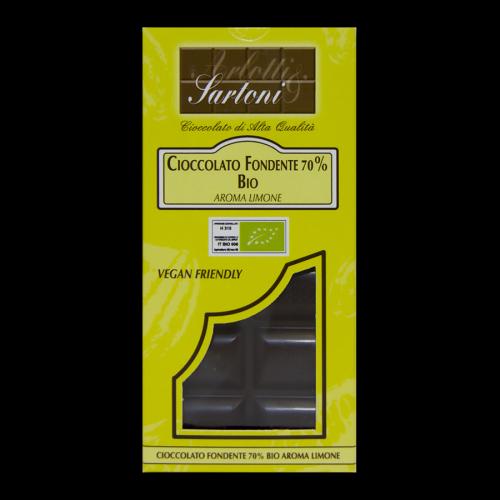 Cioccolato fondente 70% BIO – Aroma LIMONE